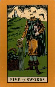5 Мечей The English Magic Tarot Таро Английской Магии