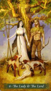 6 Аркан Леди и Лорд The Green Witch Tarot (Таро Зеленой Ведьмы)