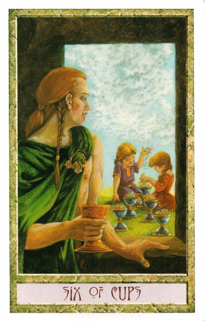 6 Кубков Таро Друидов The Druid Craft Tarot