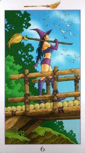 6 Метл (Масть Мечей) Ведьмовское Таро (Таро Ведьм) Witchy Tarot