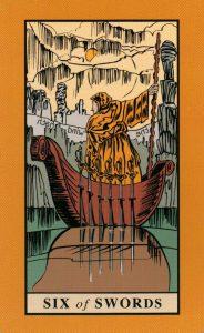 6 Мечей The English Magic Tarot Таро Английской Магии