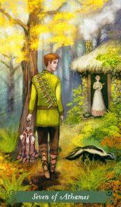 7 Аутэмов (Ножей) The Green Witch Tarot (Таро Зеленой Ведьмы)