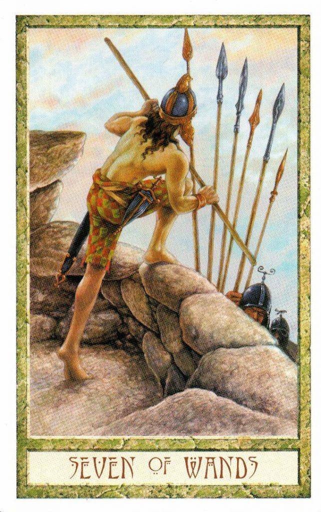 7 Жезлов Таро Друидов The Druid Craft Tarot