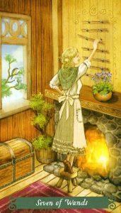 7 Жезлов The Green Witch Tarot (Таро Зеленой Ведьмы)