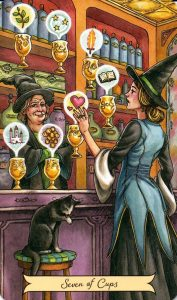 7 Кубков Everyday Witch Tarot