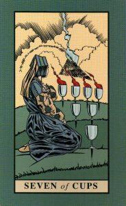7 Кубков The English Magic Tarot Таро Английской Магии