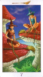7 Метл (Масть Мечей) Ведьмовское Таро (Таро Ведьм) Witchy Tarot