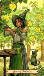 7 Пентаклей Everyday Witch Tarot