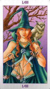8 Аркан Правосудие Ведьмовское Таро Witchy Tarot