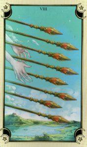 8 Жезлов Таро Семи Звезд Mystical Manga Tarot