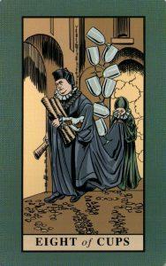 8 Кубков The English Magic Tarot Таро Английской Магии