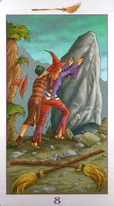 8 Метл (Масть Мечей) Ведьмовское Таро (Таро Ведьм) Witchy Tarot
