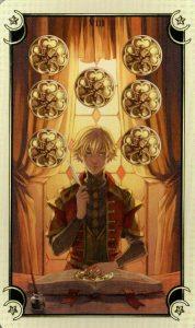 8 Монет Таро Семи Звезд Mystical Manga Tarot