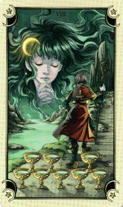 8 Чаш Таро Семи Звезд Mystical Manga Tarot