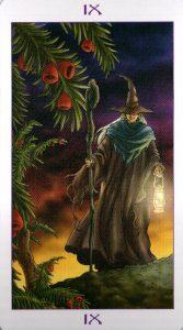 9 Аркан Отшельник Ведьмовское Таро Witchy Tarot