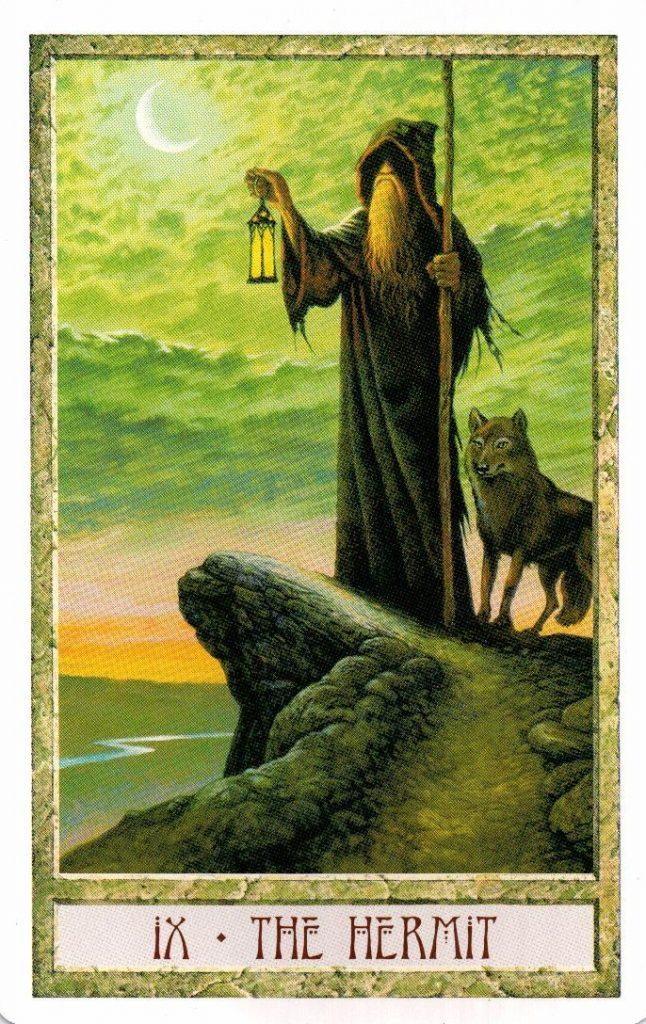 9 Аркан Отшельник Таро Друидов The Druid Craft Tarot