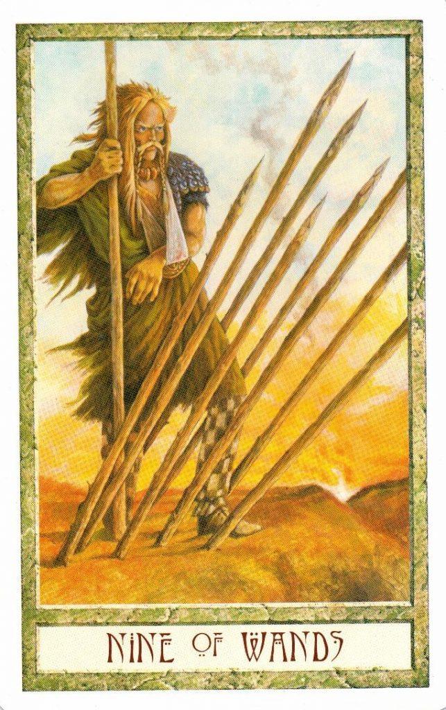 9 Жезлов Таро Друидов The Druid Craft Tarot