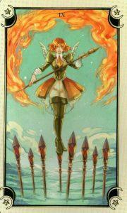 9 Жезлов Таро Семи Звезд Mystical Manga Tarot