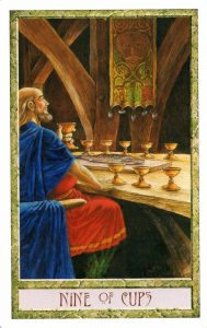 9 Кубков Таро Друидов The Druid Craft Tarot