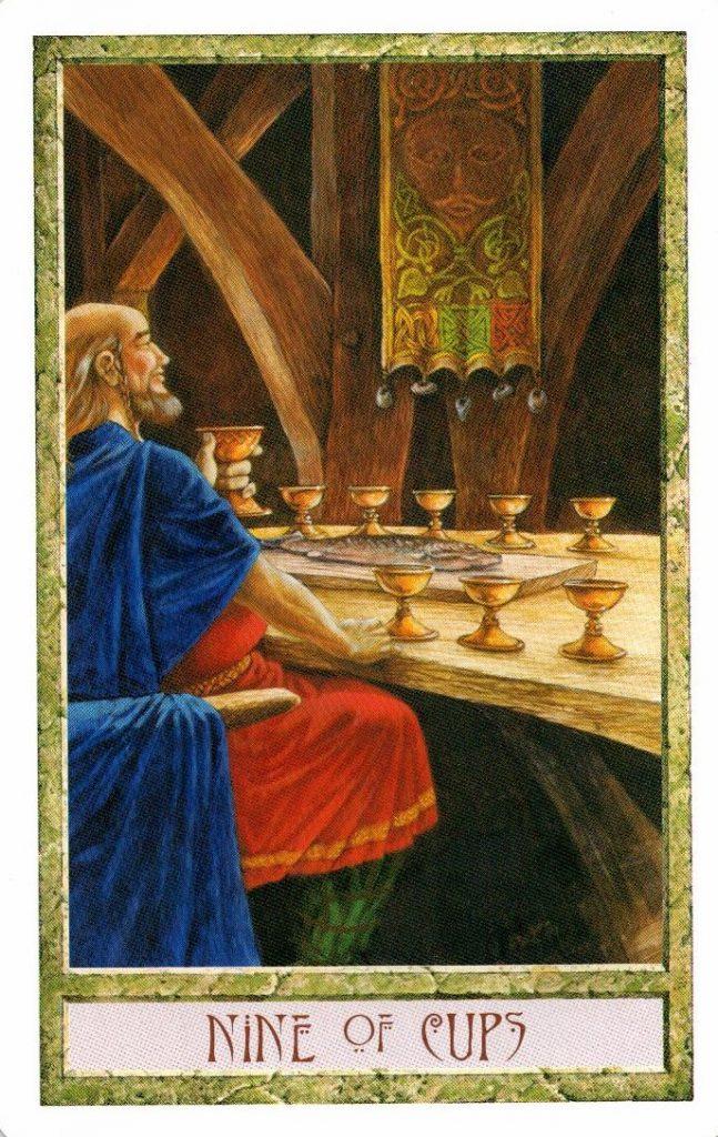 9 Кубков Таро Друидов The Druid Craft Tarot
