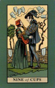 9 Кубков The English Magic Tarot Таро Английской Магии