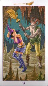 9 Метл (Масть Мечей) Ведьмовское Таро (Таро Ведьм) Witchy Tarot