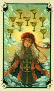 9 Чаш Таро Семи Звезд Mystical Manga Tarot