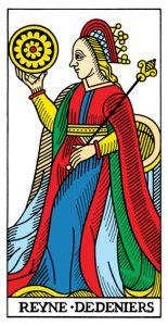 Королева МонетМарсельское Таро Конвера-Бен-Дова
