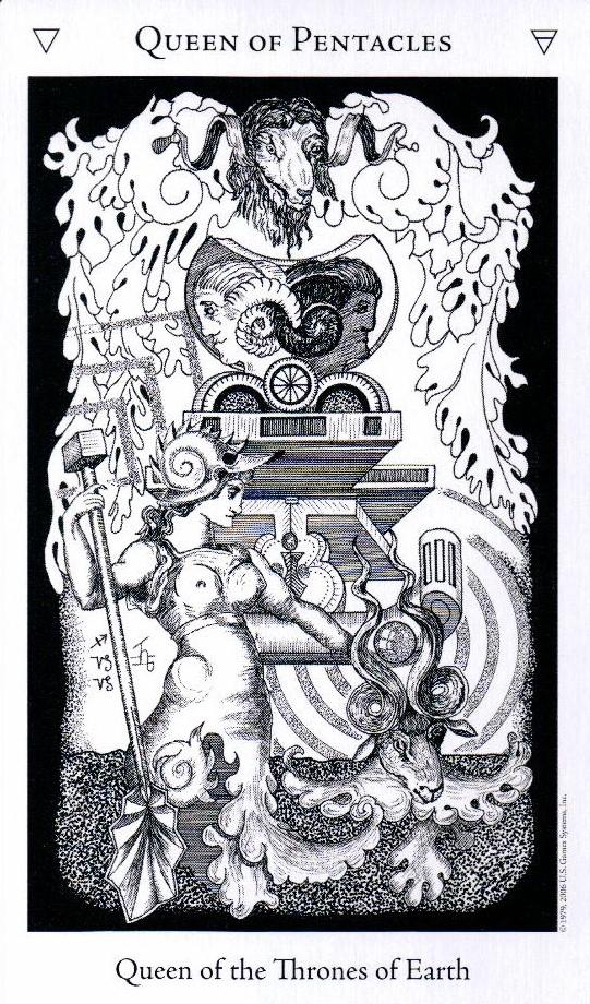 Королева Пентаклей The Hermetic Tarot
