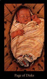 Паж Дисков The Mary-el Tarot