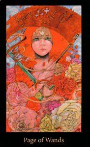 Паж Жезлов The Mary-el Tarot