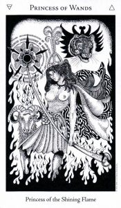 Принцесса Жезлов The Hermetic Tarot
