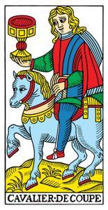 Рыцарь Кубков Марсельское Таро Конвера-Бен-Дова