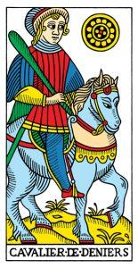 Рыцарь МонетМарсельское Таро Конвера-Бен-Дова