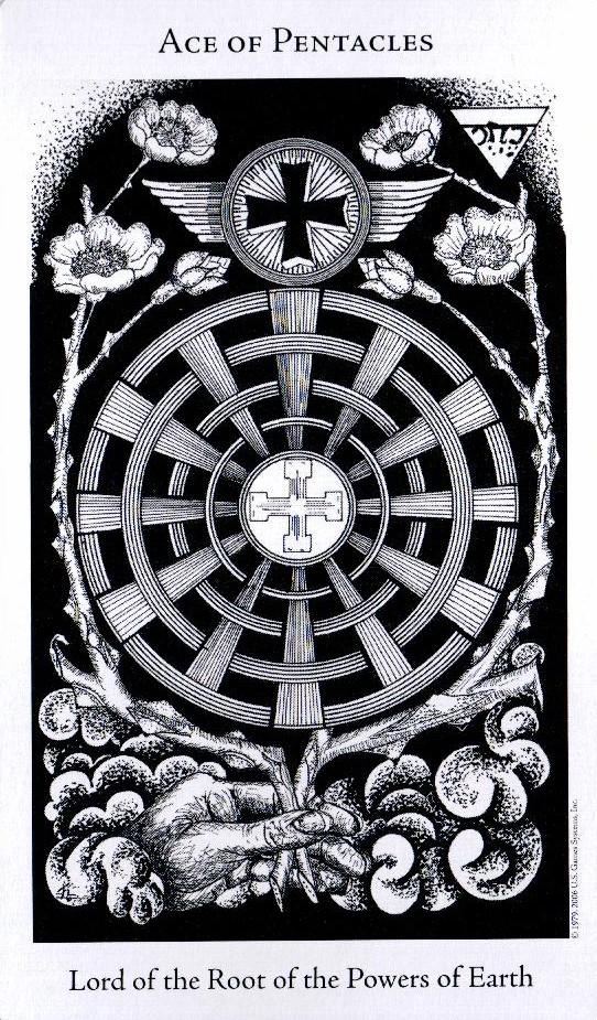 Туз Пентаклей The Hermetic Tarot