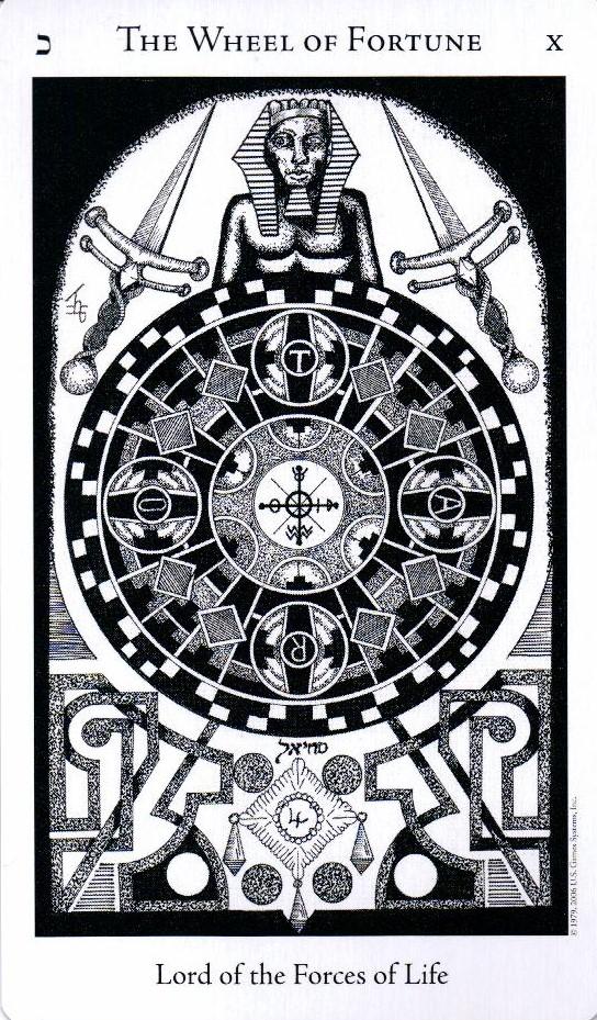 10 Аркан Колесо Фортуны The Hermetic Tarot