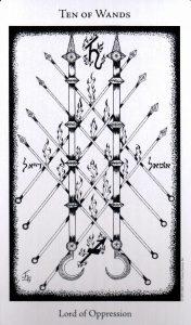 10 Жезлов The Hermetic Tarot