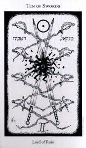 10 Мечей The Hermetic Tarot