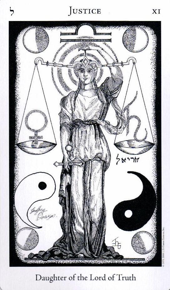 11 Аркан Правосудие The Hermetic Tarot