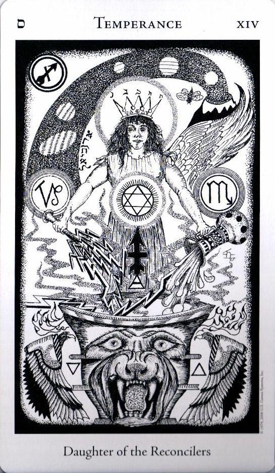 14 Аркан Умеренность The Hermetic Tarot
