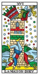 16 Аркан Башня Марсельское Таро Конвера-Бен-Дова