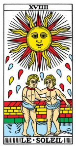 19 Аркан Солнце Марсельское Таро Конвера-Бен-Дова