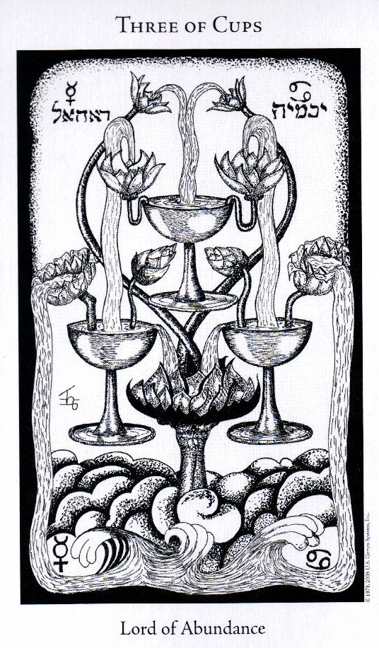 3 Кубков The Hermetic Tarot