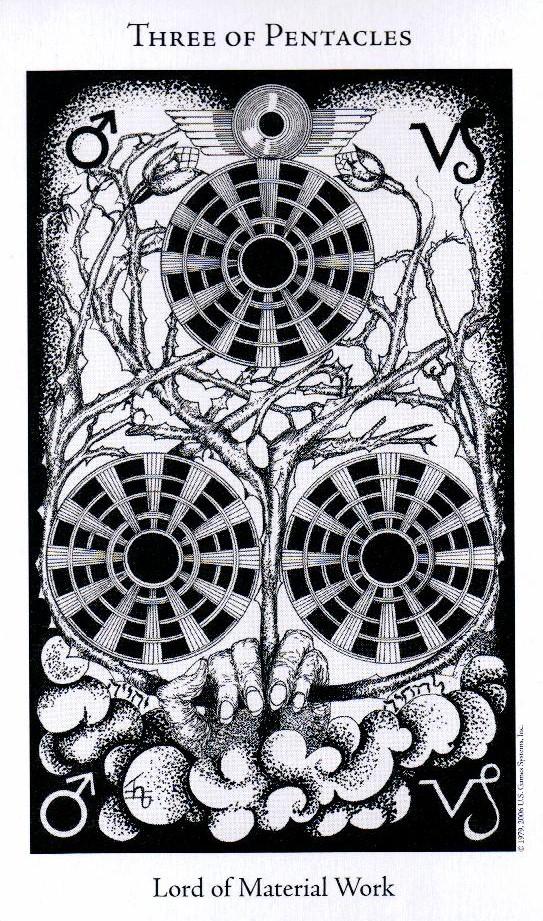 3 Пентаклей The Hermetic Tarot