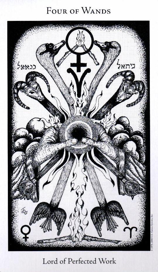 4 Жезлов The Hermetic Tarot