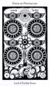 4 Пентаклей The Hermetic Tarot