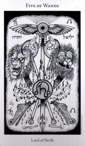 5 Жезлов The Hermetic Tarot