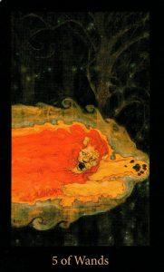 5 Жезлов The Mary-el Tarot