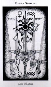 5 Мечей The Hermetic Tarot