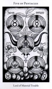 5 Пентаклей The Hermetic Tarot